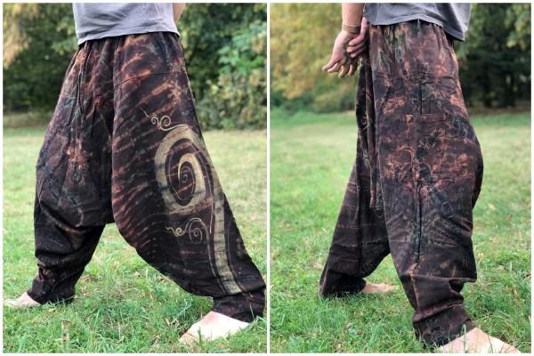 Haremshose Spirale batik